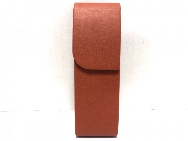 GIORGIOFEDON(ジョルジオフェドン) ペンケース オレンジ レザー