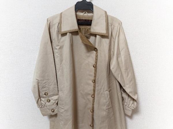 イヴサンローラン コート サイズ9A3 レディース美品  ベージュ×ブラウン 春・秋物