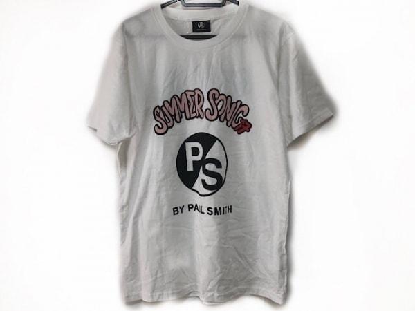 PaulSmith(ポールスミス) 半袖Tシャツ サイズM メンズ美品  白×ピンク×黒