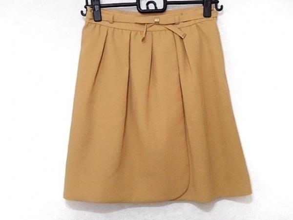 アプワイザーリッシェ スカート サイズ2 M レディース イエローベージュ リボン