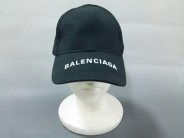 BALENCIAGA(バレンシアガ) キャップ L 黒×白 コットン