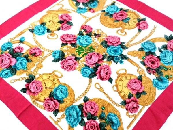 LANCEL(ランセル) スカーフ レッド×マルチ 花柄