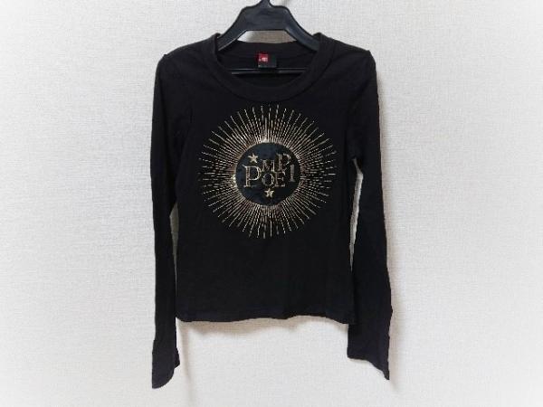 DIESEL(ディーゼル) 長袖Tシャツ サイズS レディース美品  黒×ゴールド
