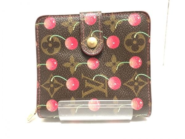 ルイヴィトン 2つ折り財布 モノグラムチェリー コンパクトジップ M95005