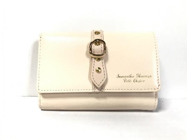 サマンサタバサプチチョイス 3つ折り財布 ベージュ がま口 合皮