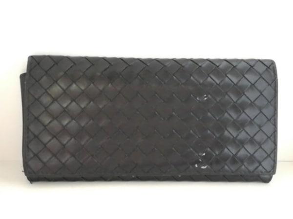 BOTTEGA VENETA(ボッテガヴェネタ) 札入れ イントレチャート 120697 黒 レザー