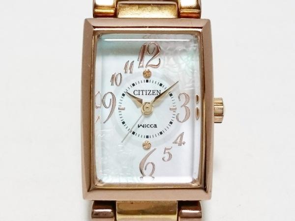 CITIZEN(シチズン) 腕時計 wicca B035-S051843 レディース シェル文字盤 アイボリー