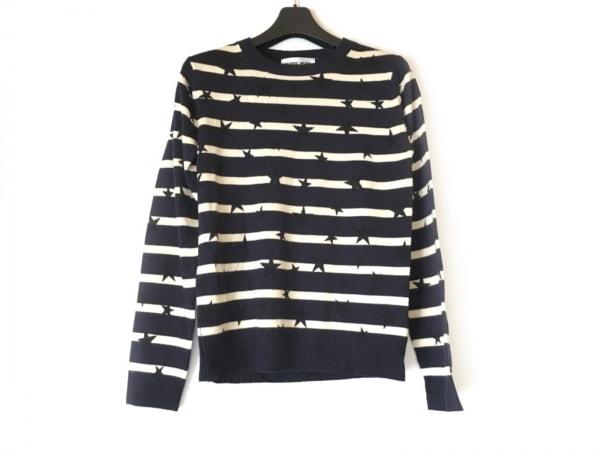MUVEIL WORK(ミュベールワーク) 長袖セーター サイズ38 M レディース 黒×アイボリー