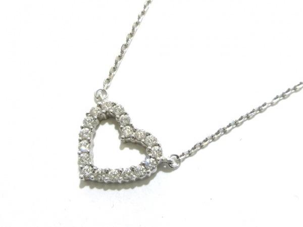 PERLITA(ペルリータ) ネックレス美品  K18WG×ダイヤモンド 0.26カラット/ハート
