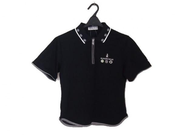 Munsingwear(マンシングウェア) 半袖ポロシャツ サイズM レディース 黒×白×マルチ
