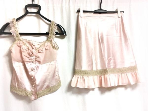 ジーザスディアマンテ スカートセットアップ レディース美品  ピンク×ゴールド