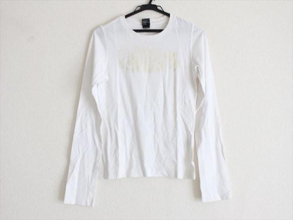 DIESEL(ディーゼル) 長袖Tシャツ サイズS レディース 白×アイボリー