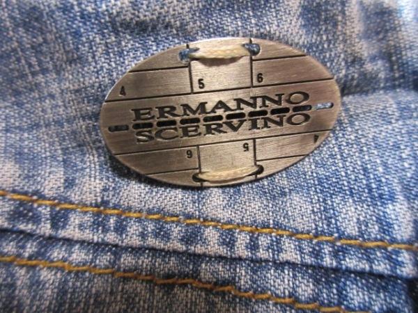 エルマノシェルビーノ ジーンズ サイズ38 M レディース ブルー ダメージ加工