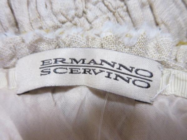 エルマノシェルビーノ ワンピース サイズ40 M レディース ベージュ ギャザー