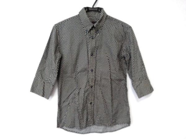 リーツテイラーザズー 長袖シャツ サイズ36 S メンズ ダークネイビー×白 ドット柄