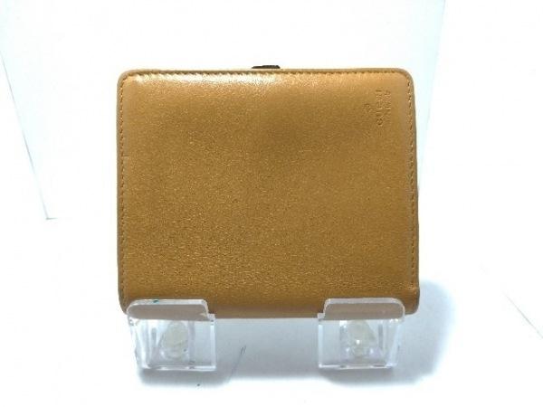 GUCCI(グッチ) 2つ折り財布 - - ライトブラウン レザー