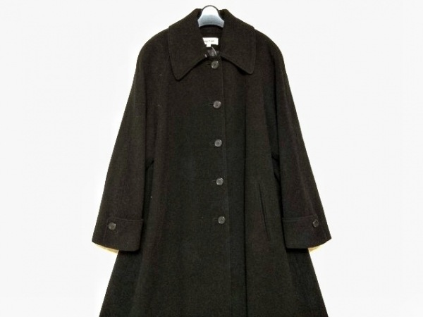 CalvinKlein(カルバンクライン) コート サイズ9 M レディース 黒 冬物/ロング丈