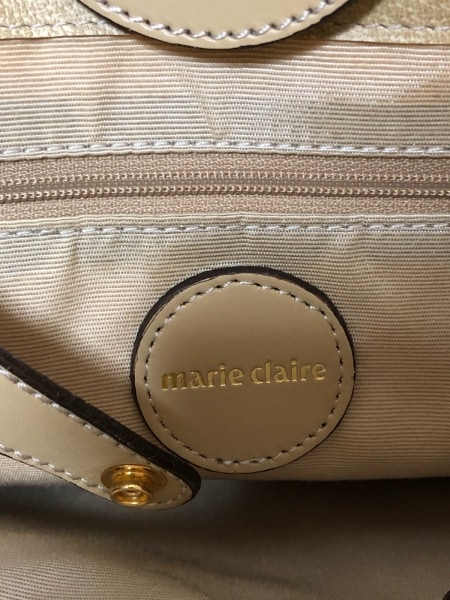 marie claire(マリクレール) トートバッグ アイボリー レザー