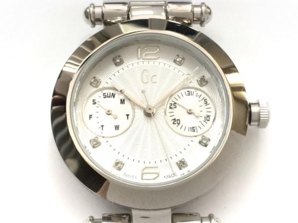 Gc(ジーシー) 腕時計美品  GC21000 レディース ラインストーンインデックス シルバー