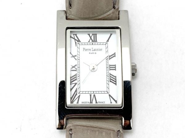 PierreLannier(ピエールラニエ) 腕時計美品  475A6 レディース 革ベルト 白
