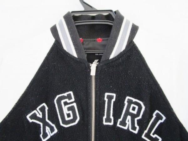 X-GIRL(エックスガール) ブルゾン サイズ2 S レディース 黒×白×グレー
