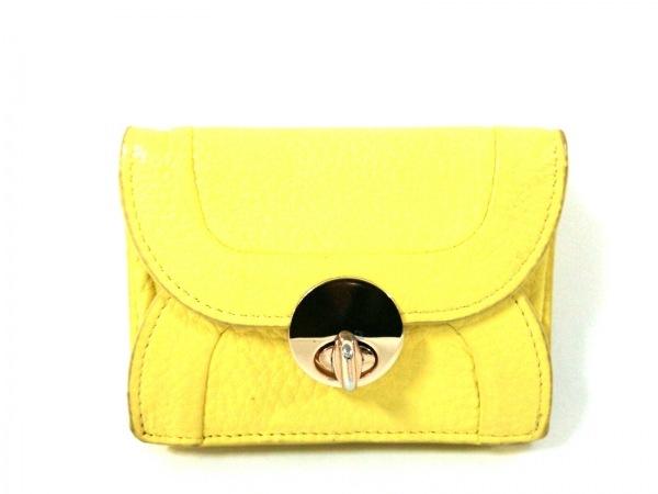 HASHIBAMI(ハシバミ) 3つ折り財布 イエロー レザー