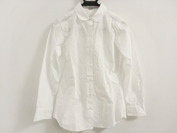 ミューズデドゥーズィエムクラス 長袖シャツブラウス サイズ38 M レディース美品  白