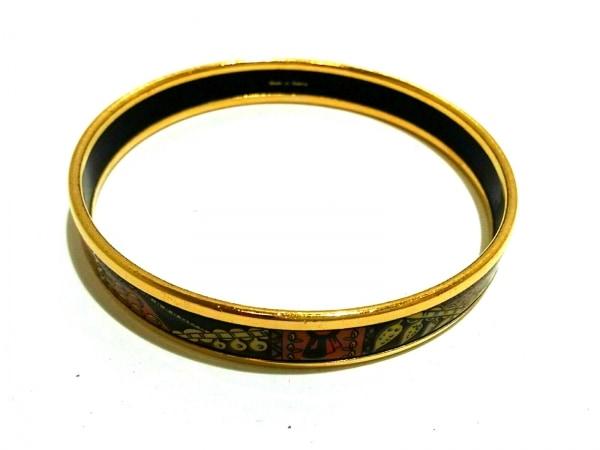HERMES(エルメス) バングル美品  エマイユ 金属素材 ゴールド×オレンジ×マルチ