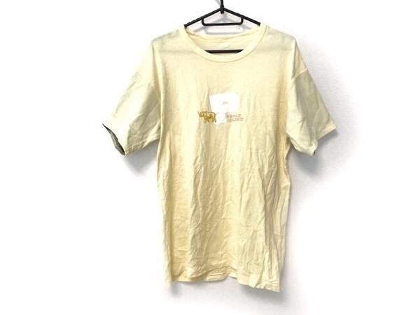 Papas(パパス) 半袖Tシャツ サイズS メンズ イエロー×白