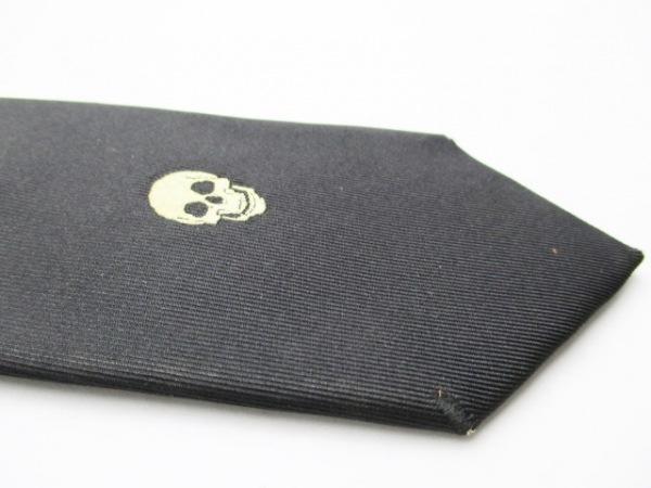Dior HOMME(ディオールオム) ネクタイ メンズ 黒×ベージュ スカル