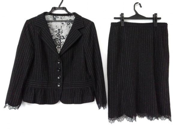 Leilian(レリアン) スカートスーツ サイズ13 L レディース美品  黒×グレー