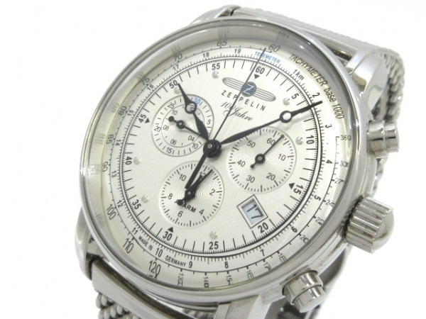 ZEPPELIN(ツェッペリン) 腕時計 7680-1 メンズ クロノグラフ/100周年記念モデル 白