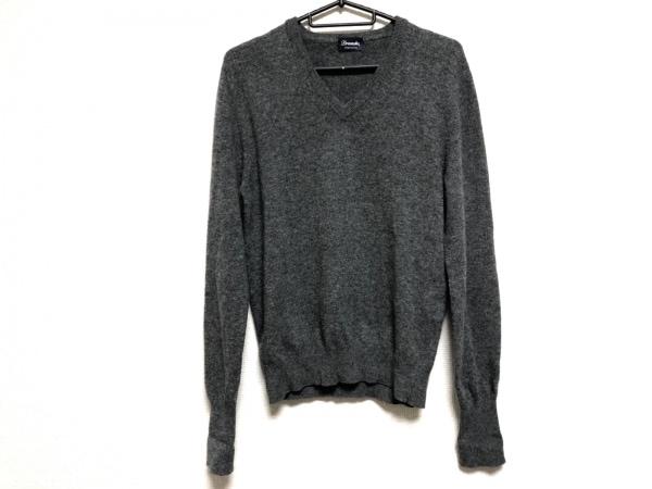 Drumohr(ドルモア) 長袖セーター サイズ44 L メンズ ダークグレー Vネック