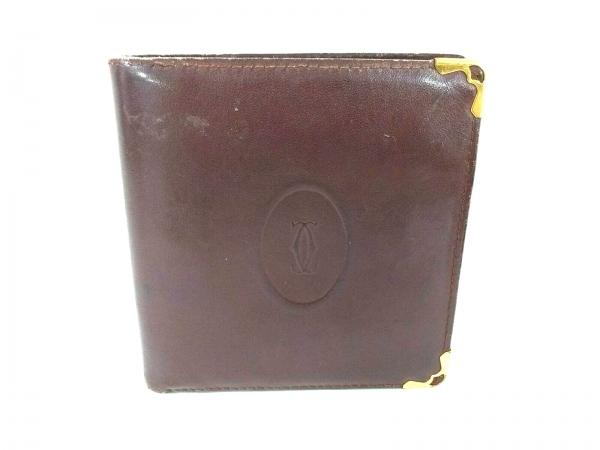 classic fit 52211 0d617 Cartier(カルティエ) 2つ折り財布 マストライン ボルドー レザー
