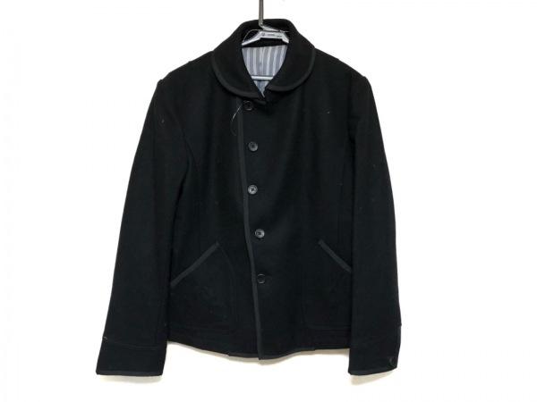 monsieur NICOLE(ムッシュニコル) コート サイズ50 メンズ美品  黒 ショート丈/冬物