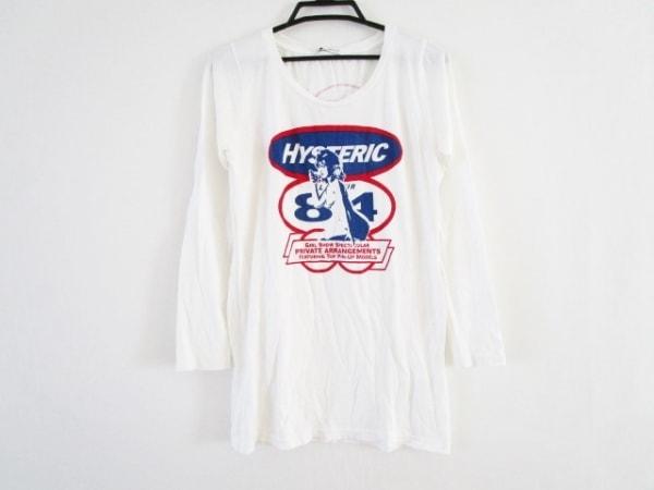 ヒステリックグラマー 長袖Tシャツ サイズF レディース 白×ネイビー×レッド