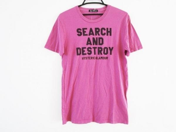 ヒステリックグラマー 半袖Tシャツ サイズF レディース ピンク ロング丈