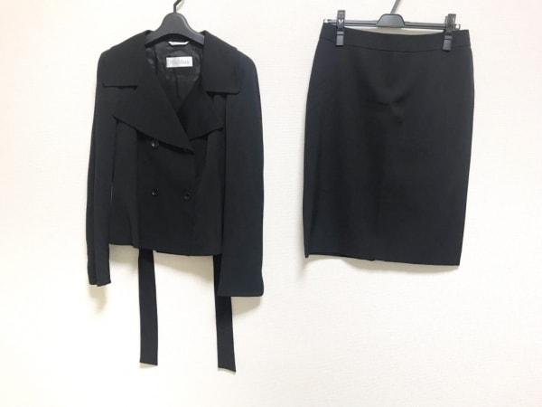 Max Mara(マックスマーラ) スカートスーツ サイズ42 M レディース美品  黒