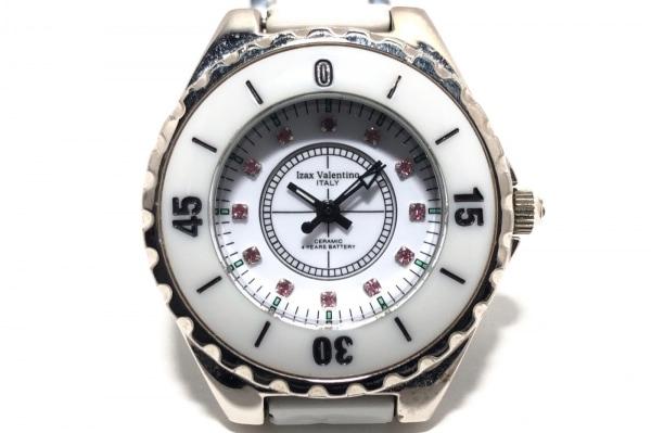 izax valentino(アイザックバレンチノ) 腕時計 IVL-3000-2 レディース 12Pルビー 白