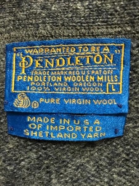 PENDLETON(ペンドルトン) カーディガン サイズL メンズ美品  グレー