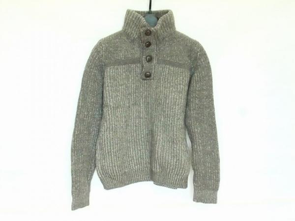 ロベルトコリーナ 長袖セーター サイズS レディース ダークブラウン×ライトグレー