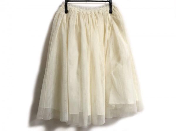 UNGRID(アングリッド) スカート サイズF レディース美品  アイボリー レース