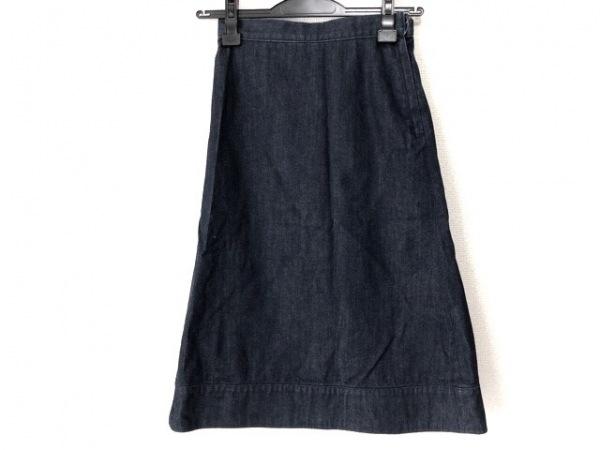 メゾン ド リーファー ロングスカート サイズ36 S レディース ネイビー デニム