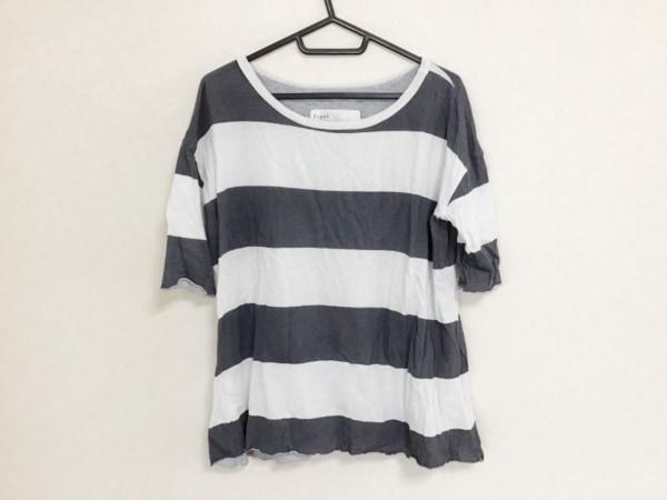 フランク&アイリーン 半袖Tシャツ サイズXS レディース ライトグレー×ダークグレー