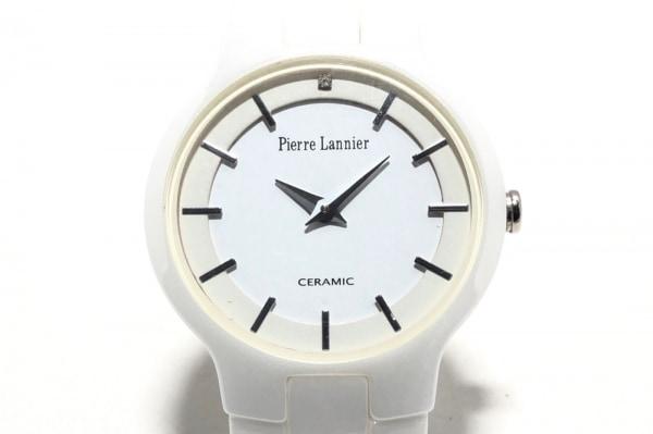 PierreLannier(ピエールラニエ) 腕時計 009J9 レディース セラミック 白