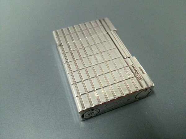 Dupont(デュポン) ライター美品  シルバー 着火確認できず 金属素材