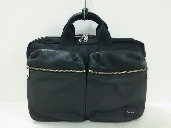 PaulSmith(ポールスミス) ビジネスバッグ美品  黒 3way ナイロン×レザー