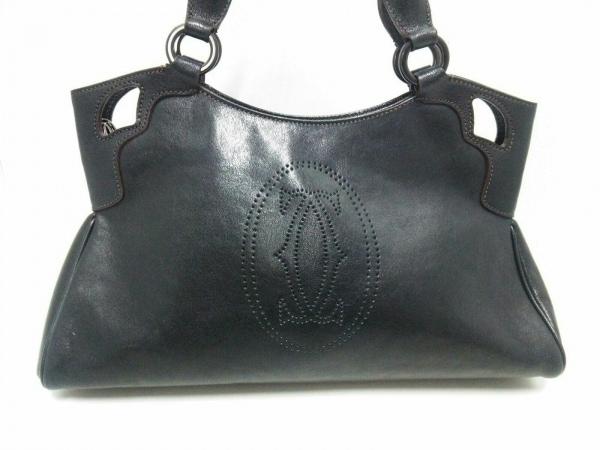 Cartier(カルティエ) ハンドバッグ マルチェロ 黒 レザー
