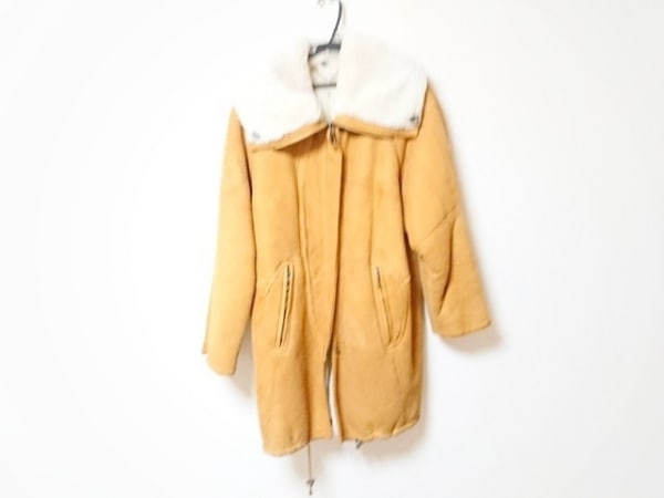 shearling(シャーリング) コート レディース ライトブラウン 冬物/ムートン