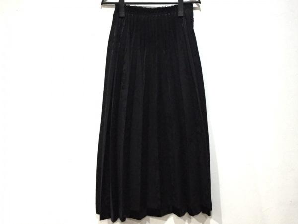 COMMEdesGARCONS(コムデギャルソン) ロングスカート サイズS レディース 黒 プリーツ